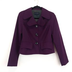 Banana Republic Purple Blazer Jacket Size 4